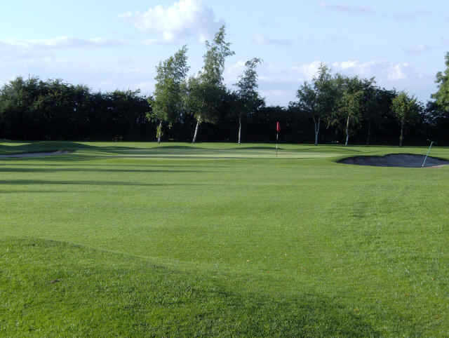 A view of green #6 at Broughton Heath Golf Course