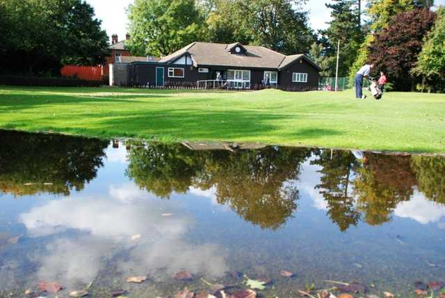 A view of the clubhouse at Derby Golf Club Sinfin