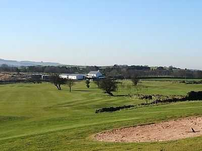 A view of fairway #1 at New Mills Golf Club