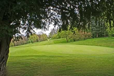 A view of the 1st green at Renishaw Park Golf Club