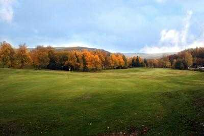 A fall view of a hole at Glossop & District Golf Club