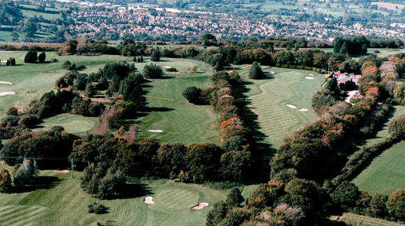Aerial view from Honiton Golf Club