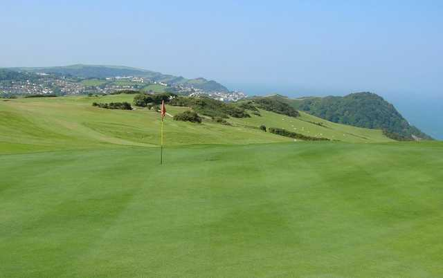 A view of a hole at Ilfracombe Golf Club