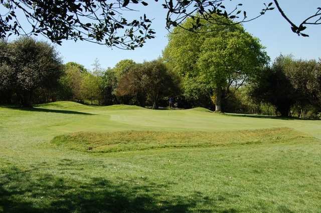 A view of the 4th green at Okehampton Golf Club