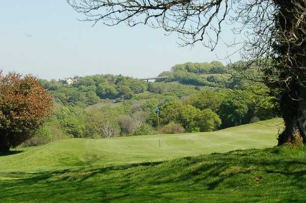 A view of hole #3 at Okehampton Golf Club