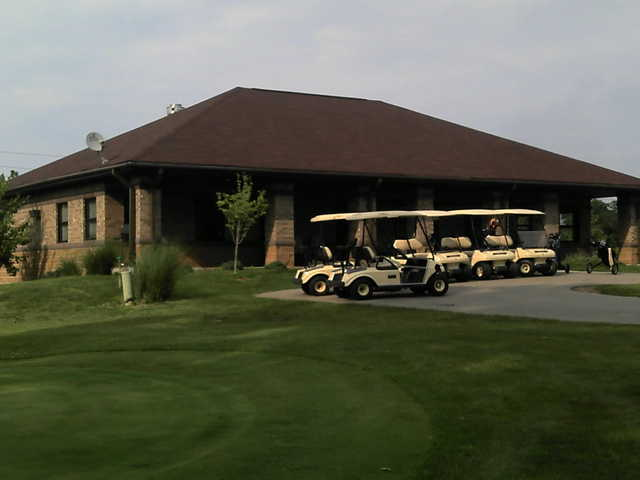 A view of the clubhouse at Thatcher Golf Course