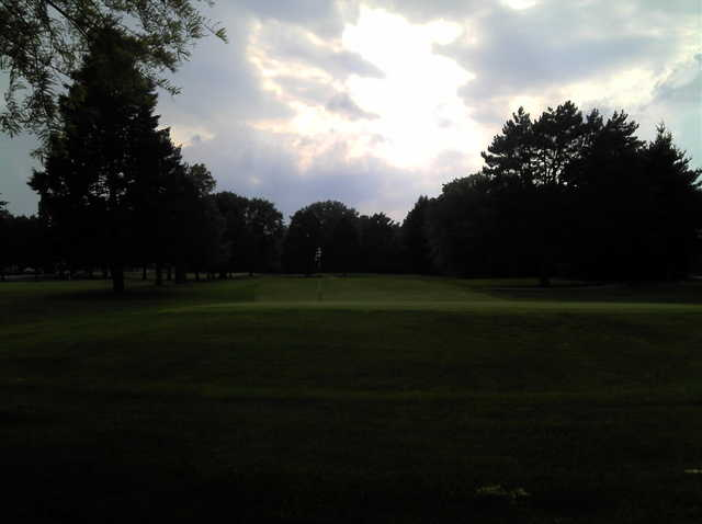 A view of the 6th hole at Thatcher Golf Course