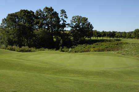 A view of the 12th hole at Apple Mountain Resort.