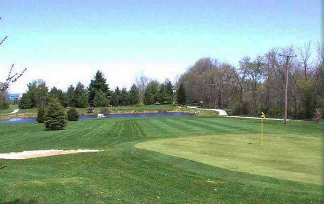 A view of a green from Eagle Pines Golf Club