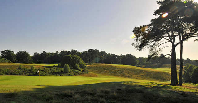 A view of the 7th green at Broadstone Golf Club