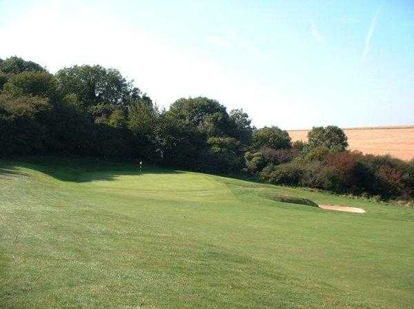 A view of the 7th green at Came Down Golf Club
