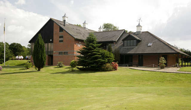 A view of the clubhouse at Crane Valley Golf Club