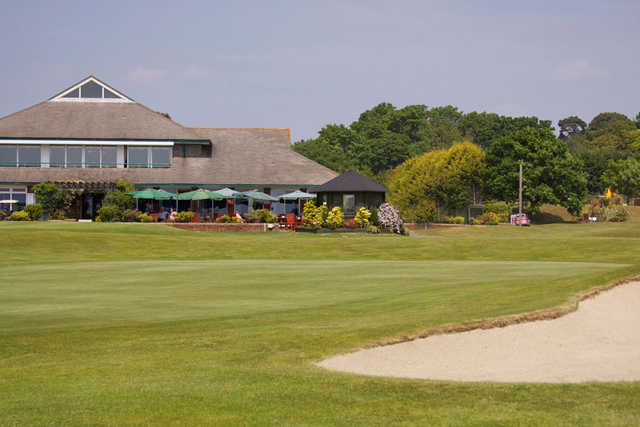 A view of the clubhouse at Dudsbury Golf Club