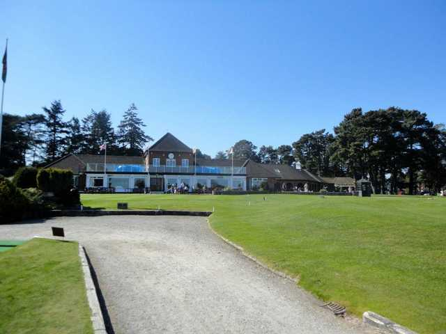 A view of the clubhouse at Ferndown Golf Club