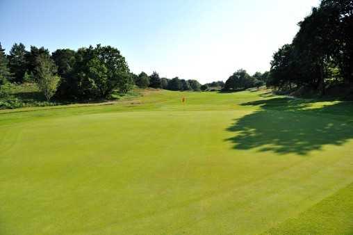 A view of hole #12 at Knighton Heath Golf Club