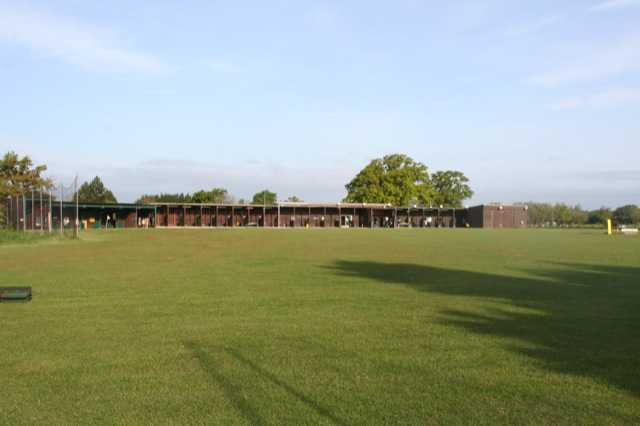 A view of the driving range at Parley Golf Centre