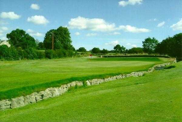 A view of green #17 at Barnard Castle Golf Club