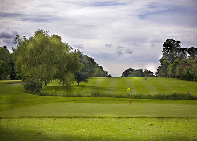 A view of the 2nd green at Blackwell Grange Golf Club