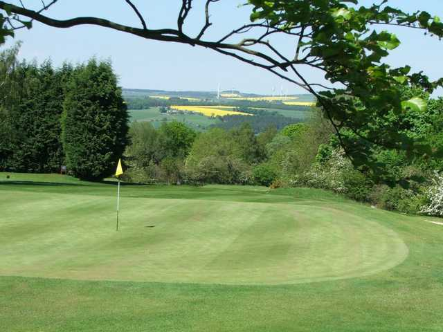 A view of green at Consett & District Golf Club