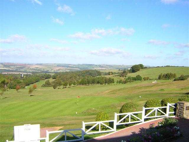 A view from the clubhouse at Consett & District Golf Club