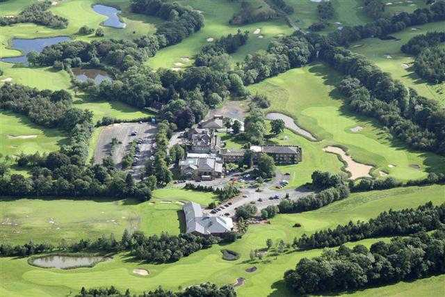 Aerial view of the clubhouse at Ramside Hall Hotel & Golf Club