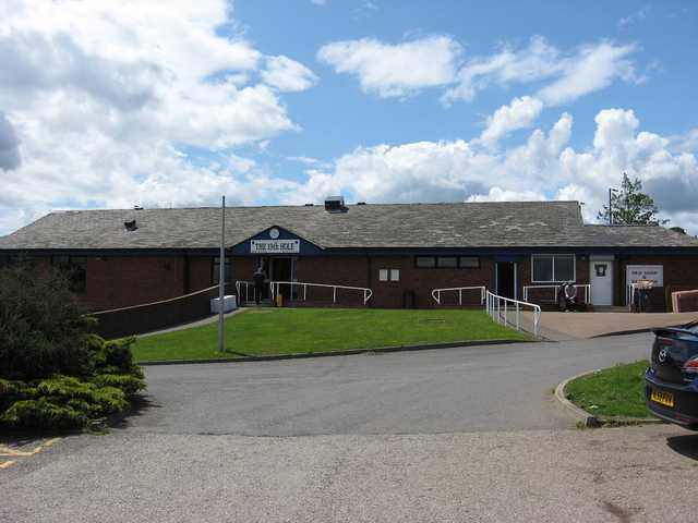 A view of the clubhouse at Roseberry Grange Golf Club.