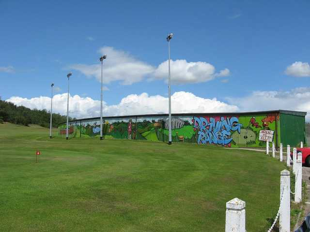 A view of the driving range at Roseberry Grange Golf Club.