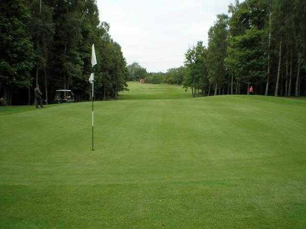 A view of the 17th green at Woodham Golf & Country Club