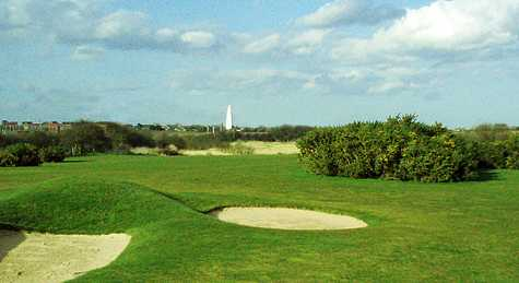 A view of a hole at Withernsea Golf Club