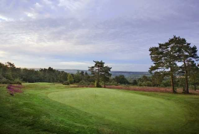 A view of green at Crowborough Beacon Golf Club