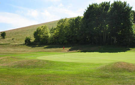 A view of the 6th green at East Brighton Golf Club