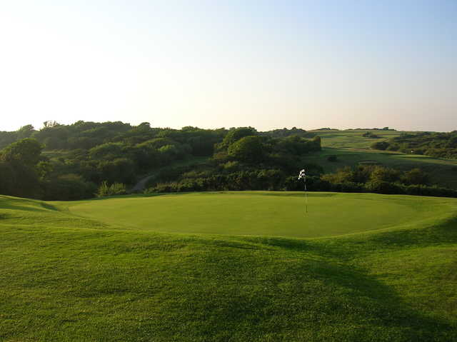 A view of the 18th green at Peacehaven Golf & Fitness
