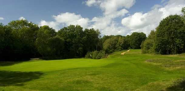 The tricky par-3 7th at Piltdown Golf Club