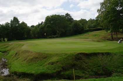 A view of the 6th green at Old Course from Royal Ashdown Forest Golf Club