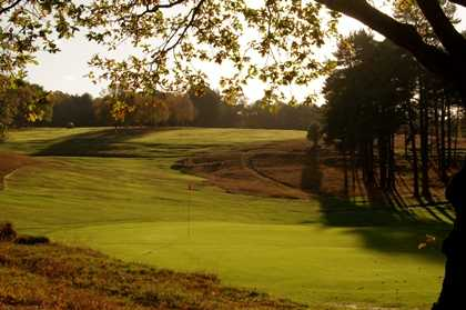 A view hole #17 at Old Course from Royal Ashdown Forest Golf Club