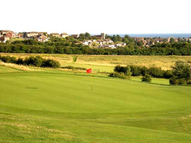 A view of the 12th green at West Hove Golf Club