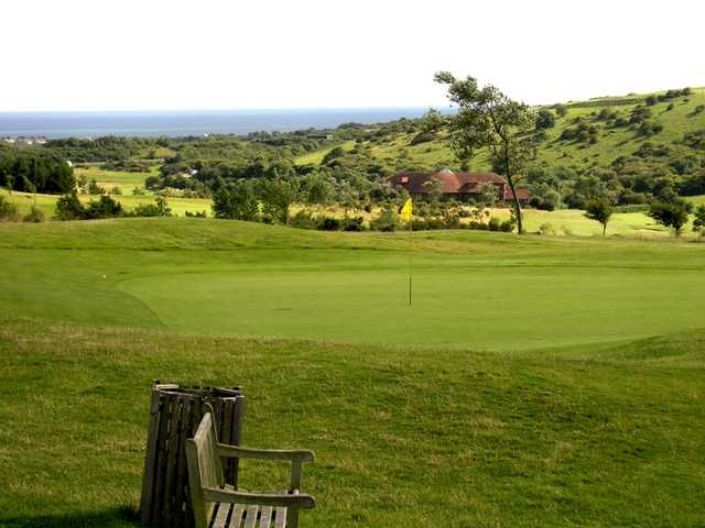 A view of hole #2 at West Hove Golf Club