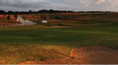 A view of the 13th hole at Blakes Golf Club