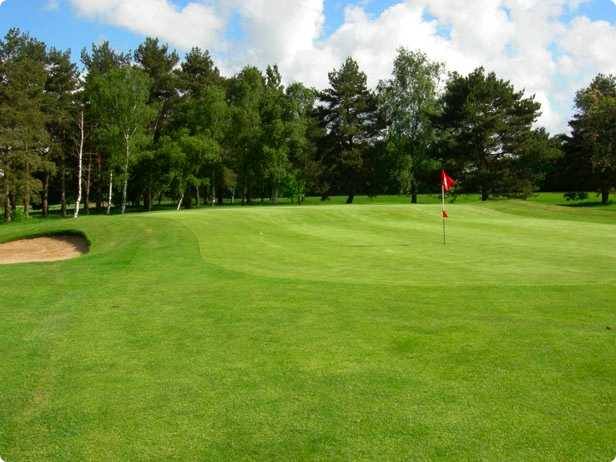 A view of the 11th green at Colchester Golf Club
