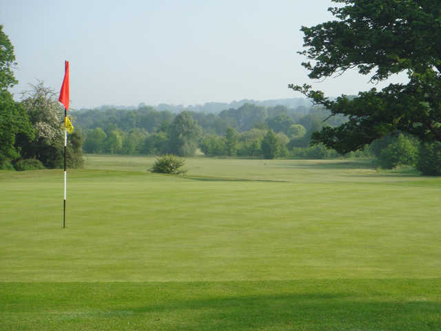 A view of a hole at Colne Valley Golf Club