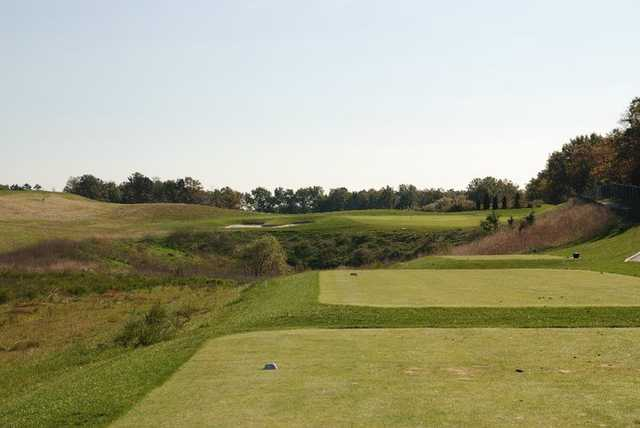 A view of the Links #26th tee zone at Eagle Ridge Golf Club