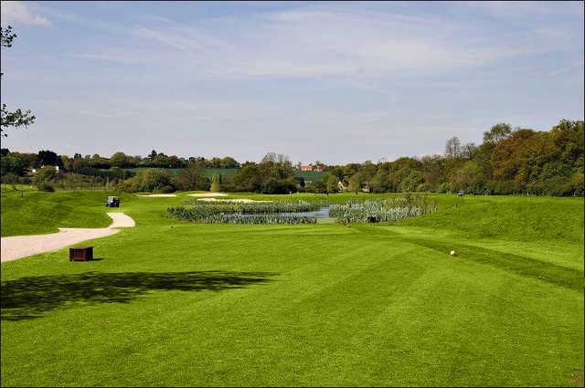 A view from tee box at Playgolf Colchester