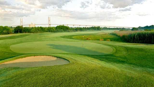 A view of the Big Duke 7th green at The Club at Savannah Harbor.