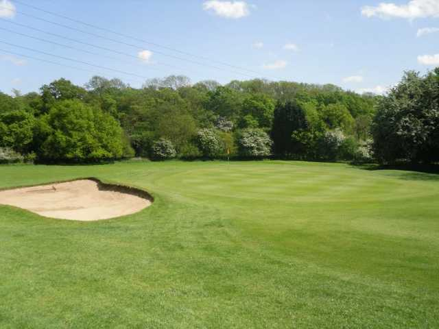 A view of the 4th green at Maylands Golf Club