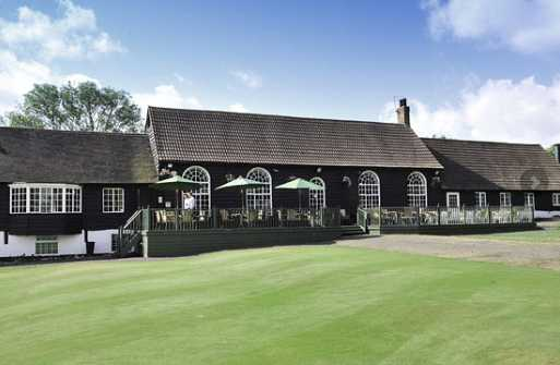 A view of the clubhouse at Maylands Golf Club