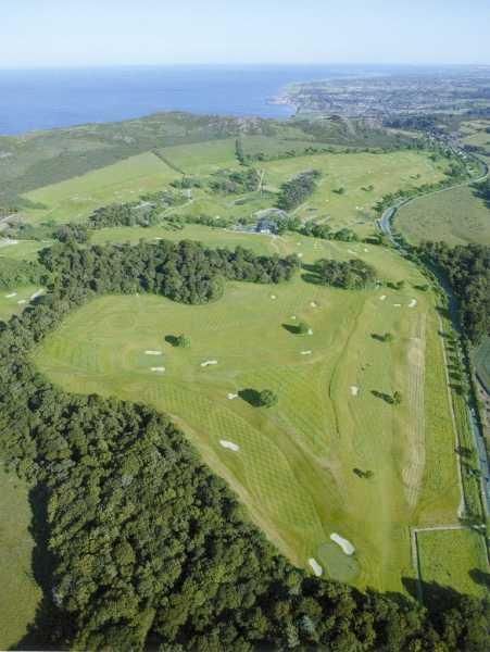 Aerial view of Bray Golf Club