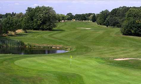 A view of an undulating green at Stapleford Abbotts Golf Club