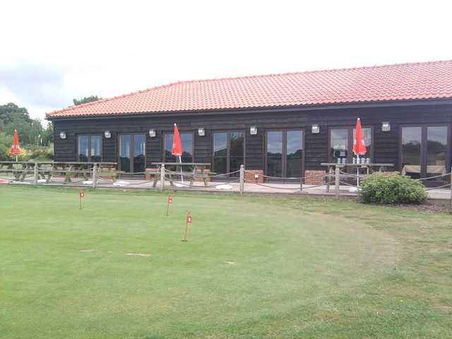 A view of the clubhouse at Notleys Golf Club