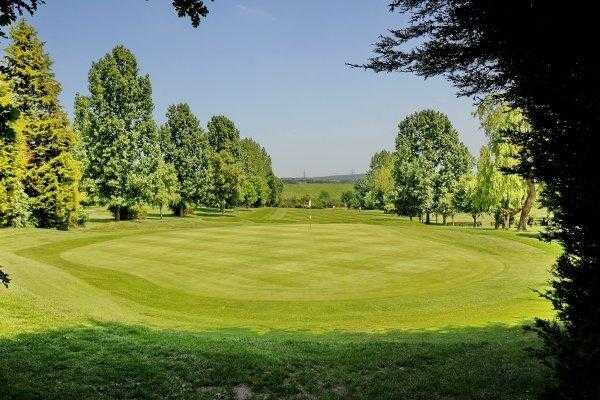 A view of green #4 at Theydon Bois Golf Club