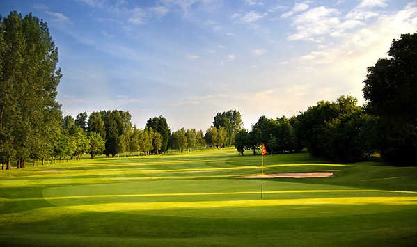 A view of the 1st green at Beaufort Course from Chipping Sodbury Golf Club